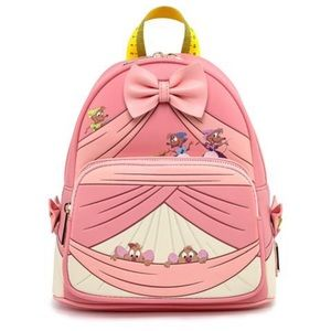 LOUNGEFLY RARE DISNEY CINDERELLA MINI BACKPACK!